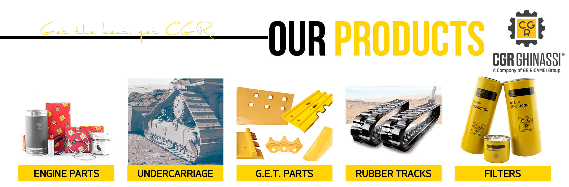 CGR GHINASSI Aftermarket Caterpillar replacement parts