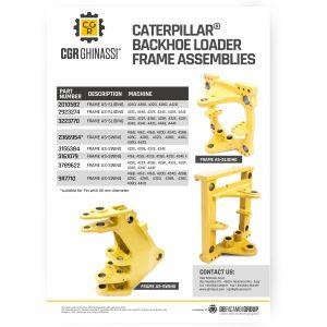 caterpillar backhoe frame