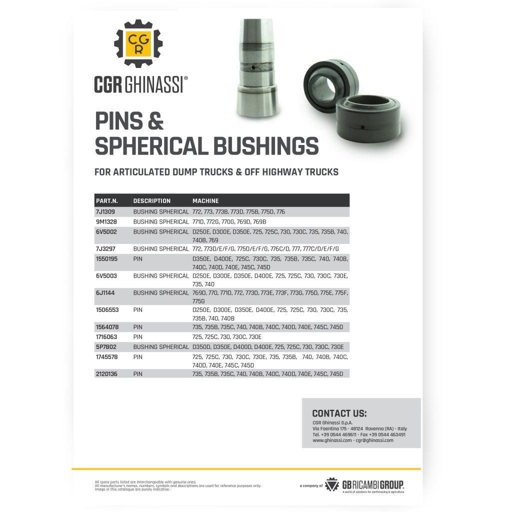 pins spherical bushings